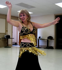 Black and Gold are Perfect for a Bellydance Costume