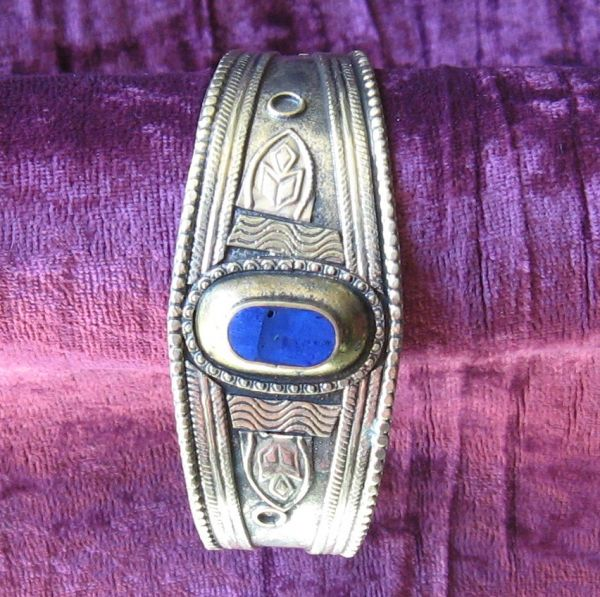 Kuchi Cuff with Lapis Accents 1