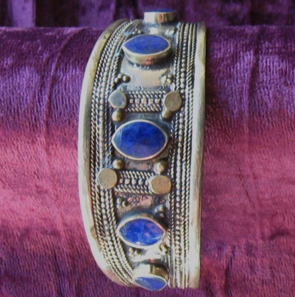 Kuchi Cuff with Lapis Accents 3