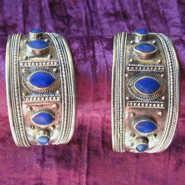 Kuchi Cuff with Lapis Accents 4