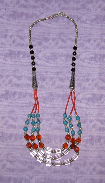 Beaded Silver Necklace 2