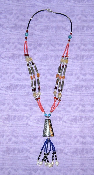 Beaded Silver Necklace 4
