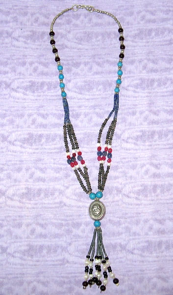 Beaded Silver Necklace 6