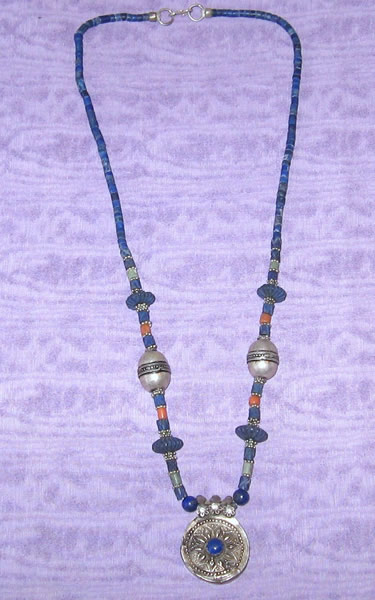 Beaded Silver Necklace 7