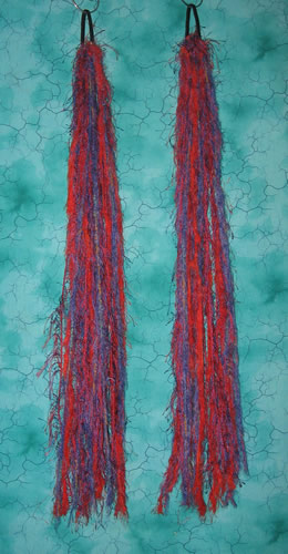 Red and Purple Yarn Hair Falls